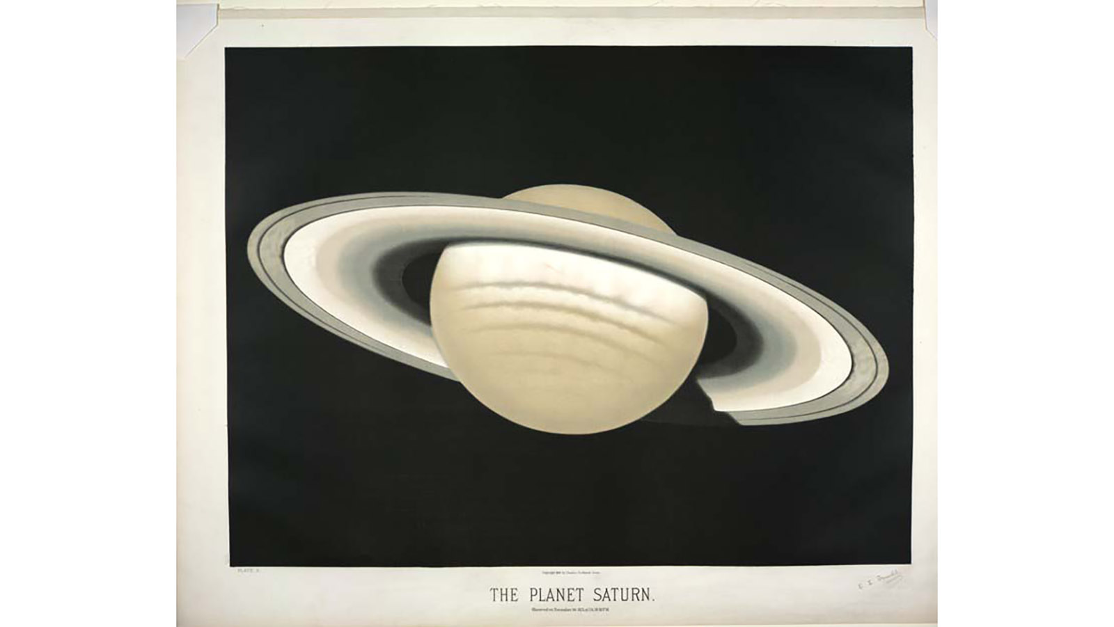 The planet Saturn. Observed on November 30, 1874, at 5h. 30m. P.M. Trouvelot C3
