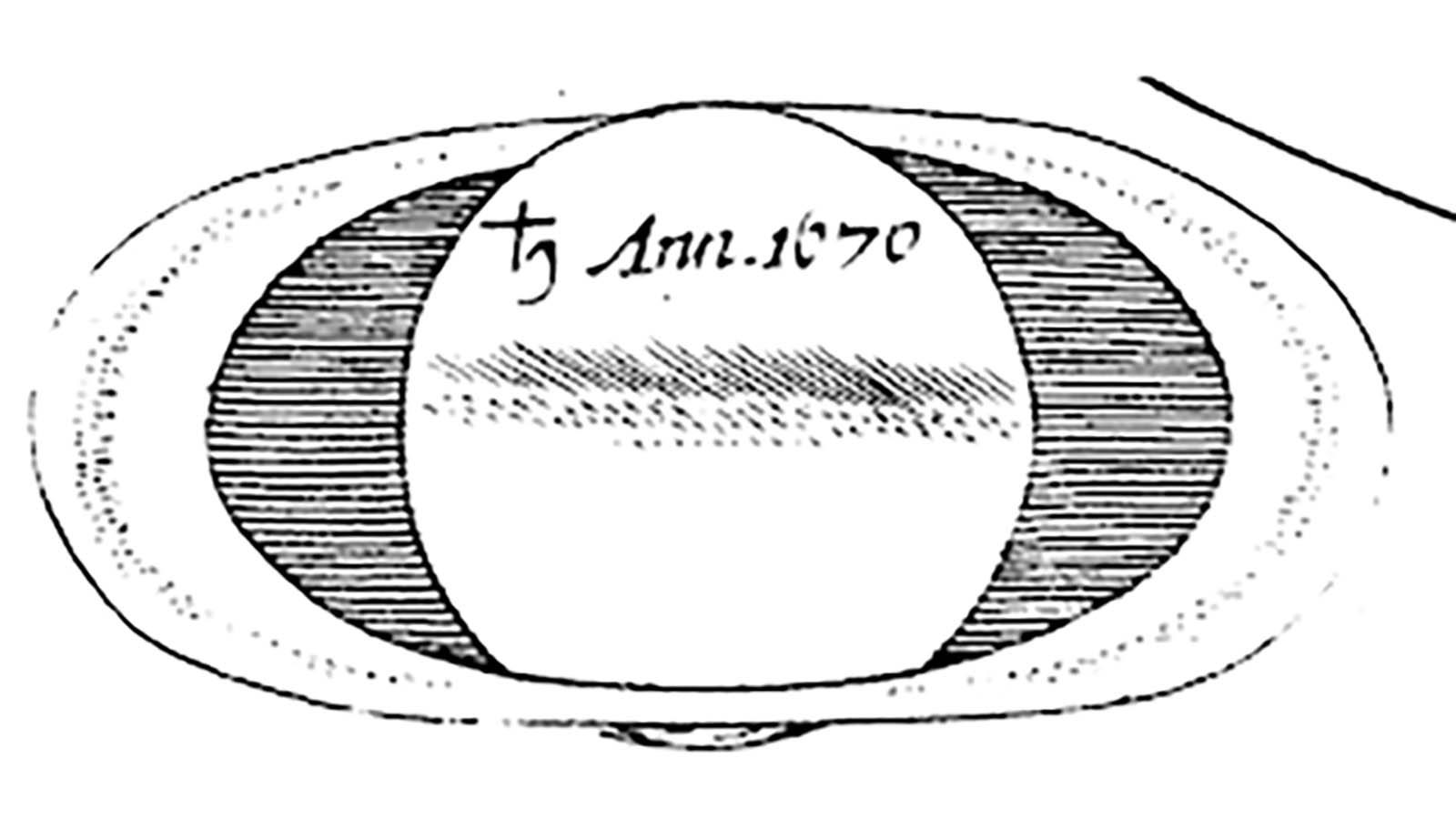 Saturno por Cassini (1676) C3