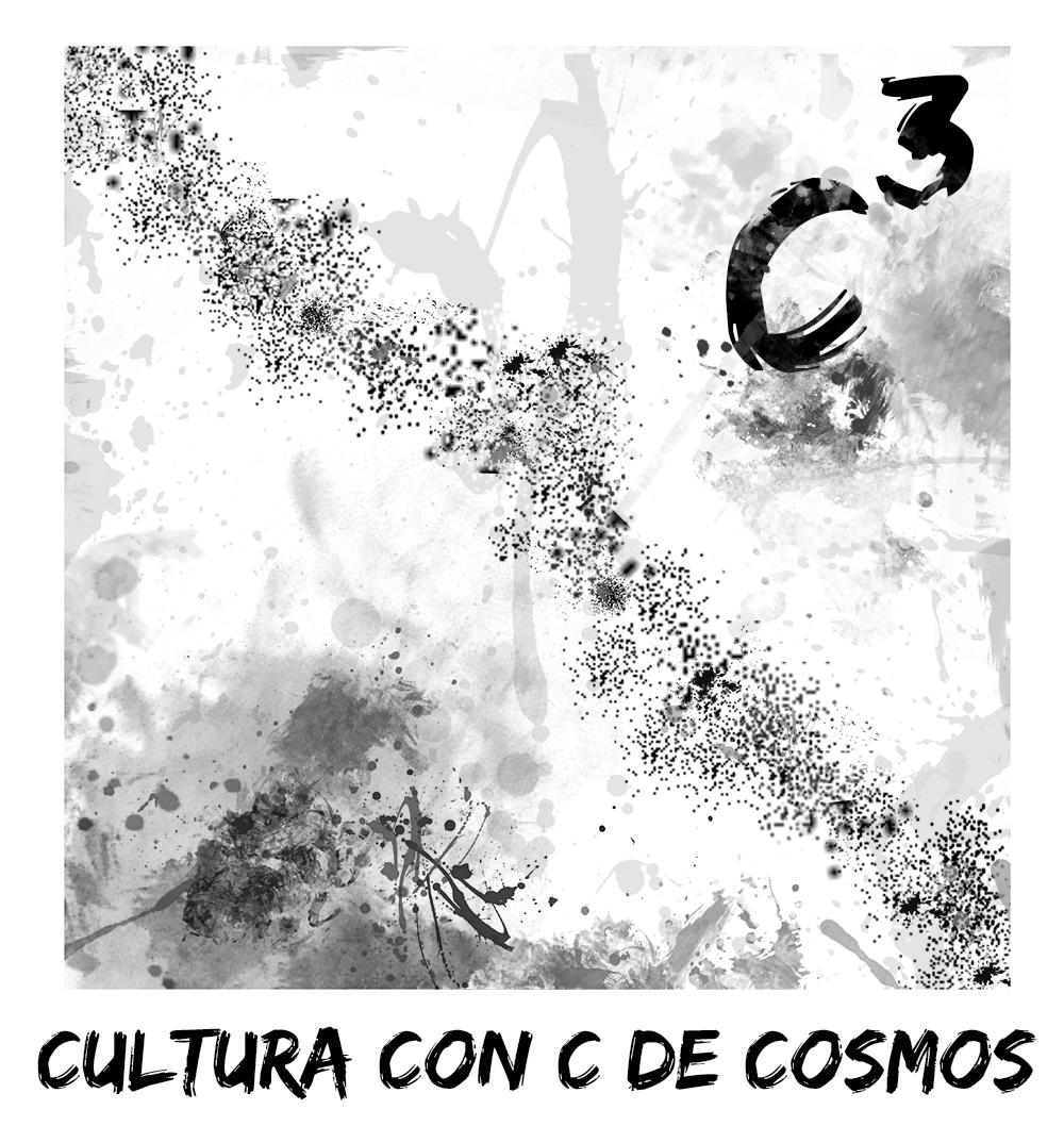 Cultura con C de Cosmos - C3 - logo blanco y negro