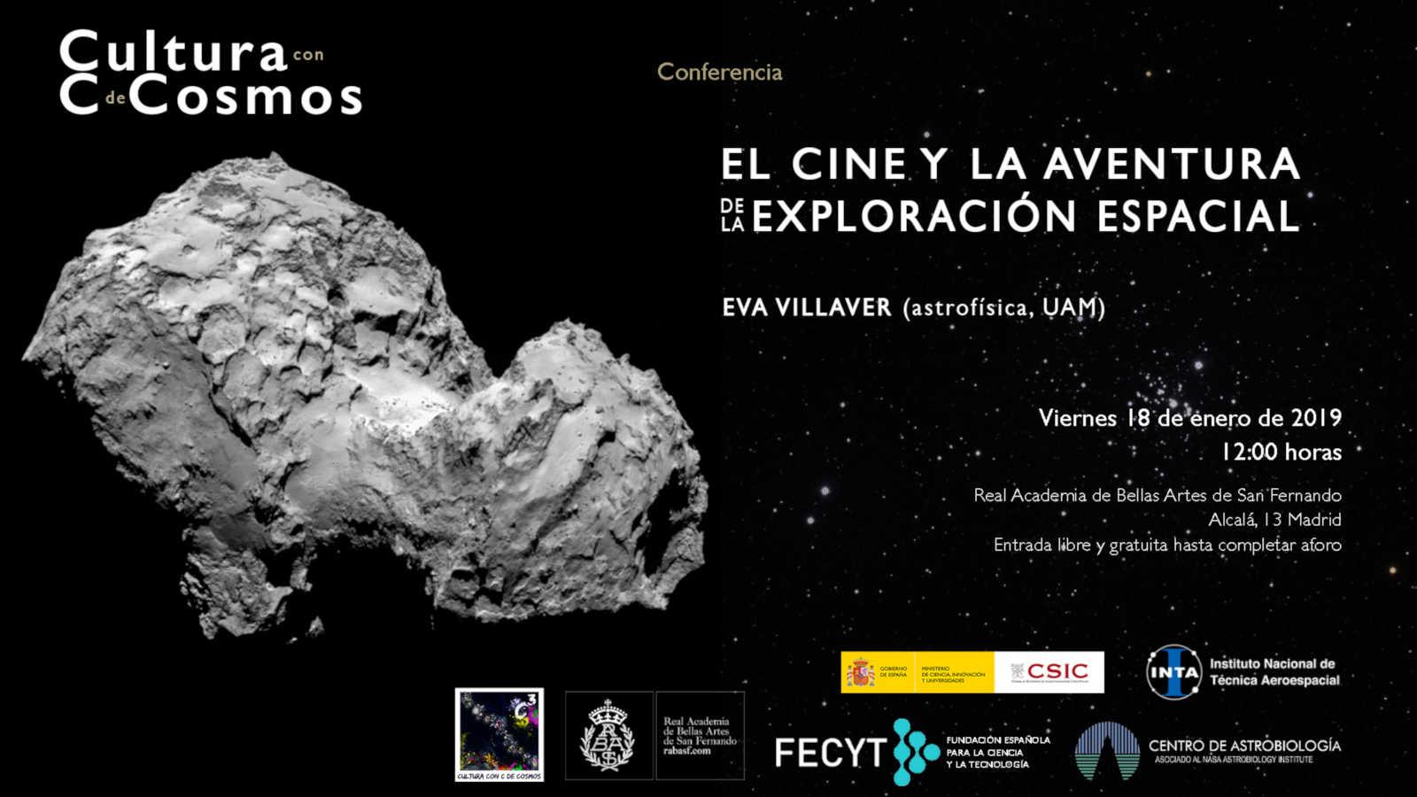 Invitación conferencia Eva Villaver (C3) - El cine y la aventura de la exploración espacial