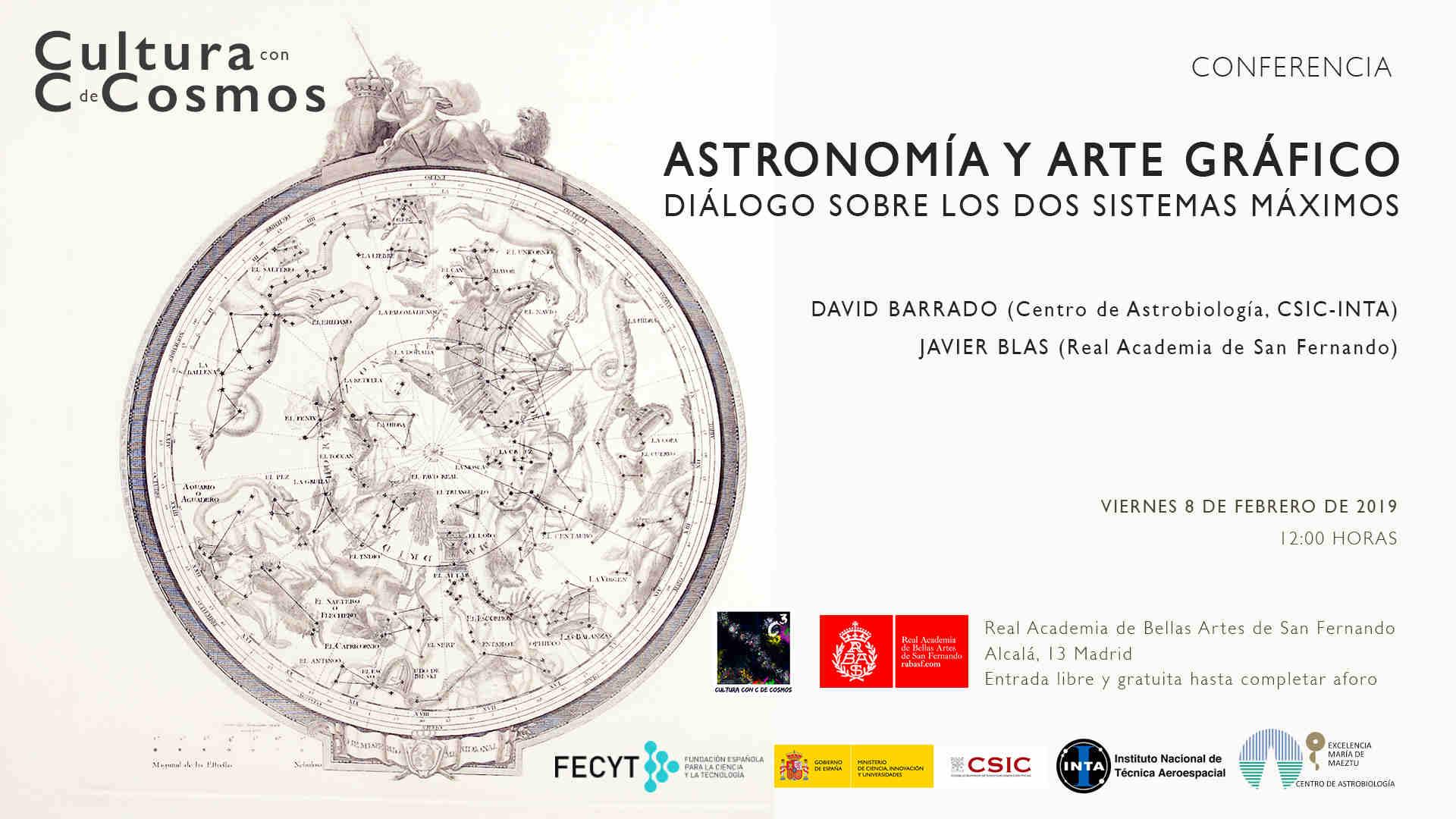 Invitación conferencia Astronomía y arte gráfico C3