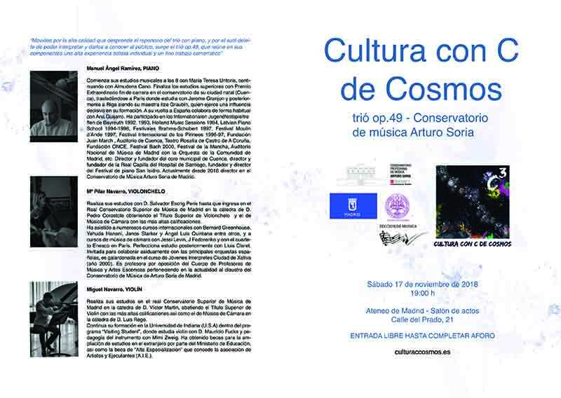 Programa mano concierto Arturo Soria 1