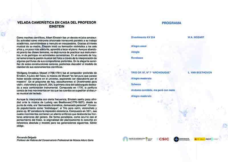 Programa mano concierto Arturo Soria 2