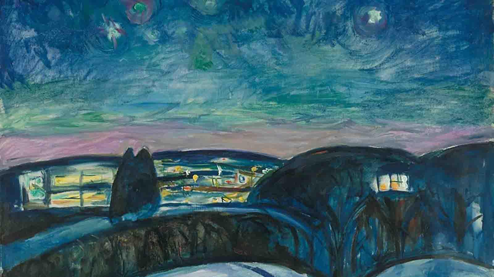 C3 - Astronomía y arte - Starry_Night_by_Edvard_Munch_1893_Getty_Center